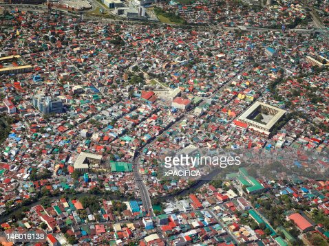 An aerial view of the city of Manila.