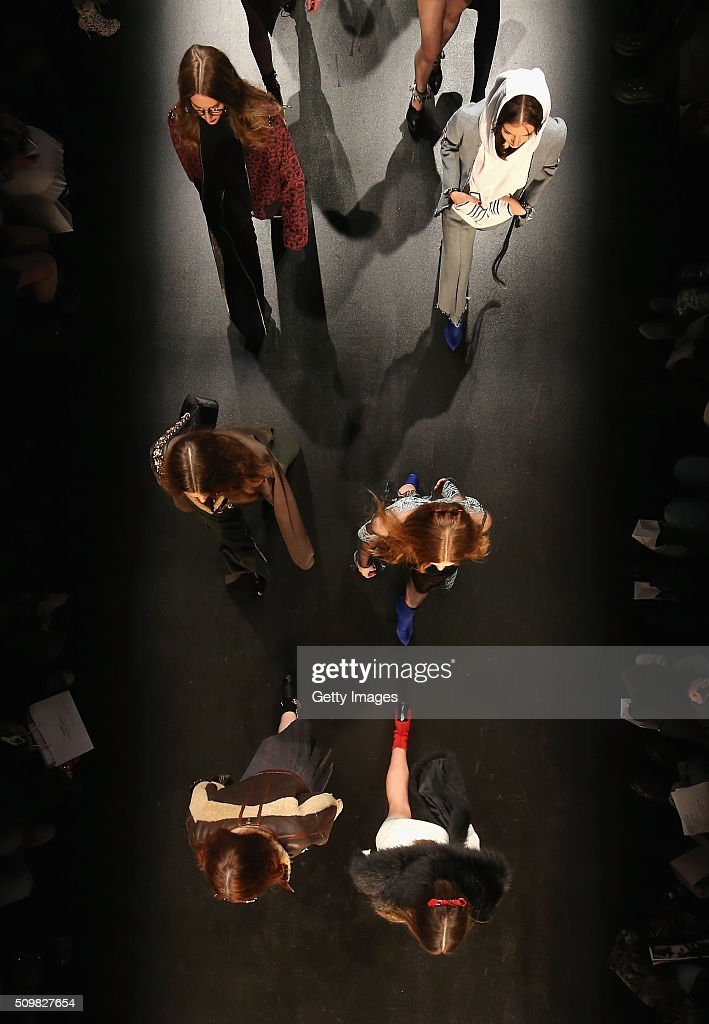 An Aerial View of the Concept Korea fashion show during New York Fashion Week Fall 2016 on February 12, 2016 in New York City.