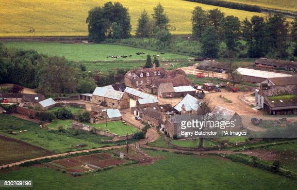 An aerial view of the Cotswold village of Salperton near Cheltenham Gloucestershire which was put on the market for 10 million pounds in May last...