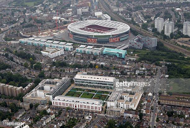 Highbury stadium stock photos and pictures getty images for Arsenal mural emirates