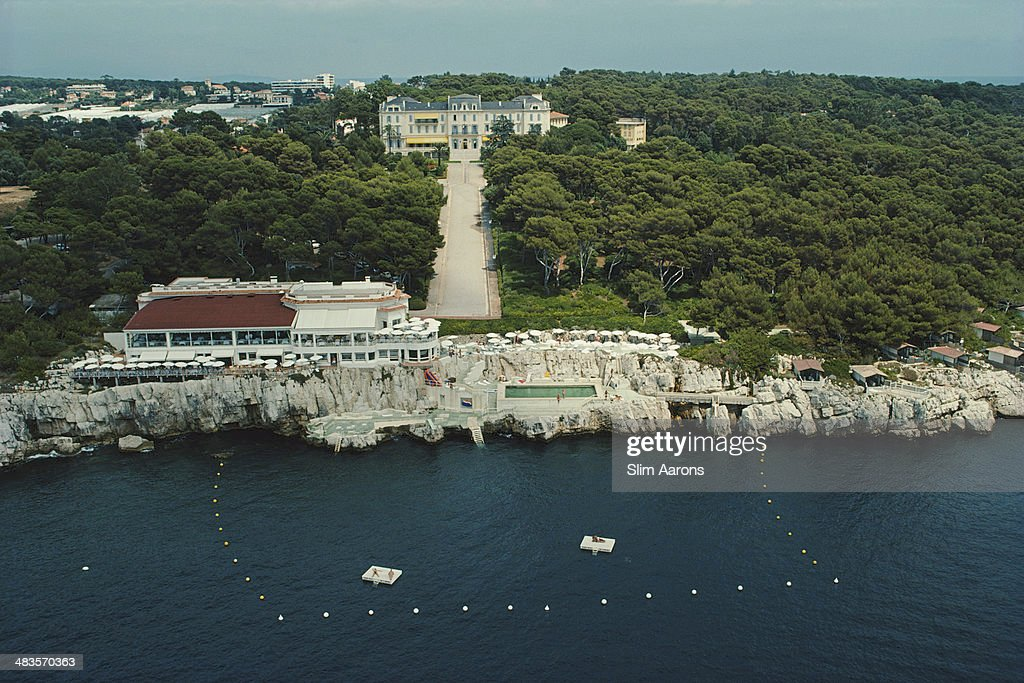 An aerial view of the Hotel du CapEdenRoc in Antibes on the French Riviera August 1976
