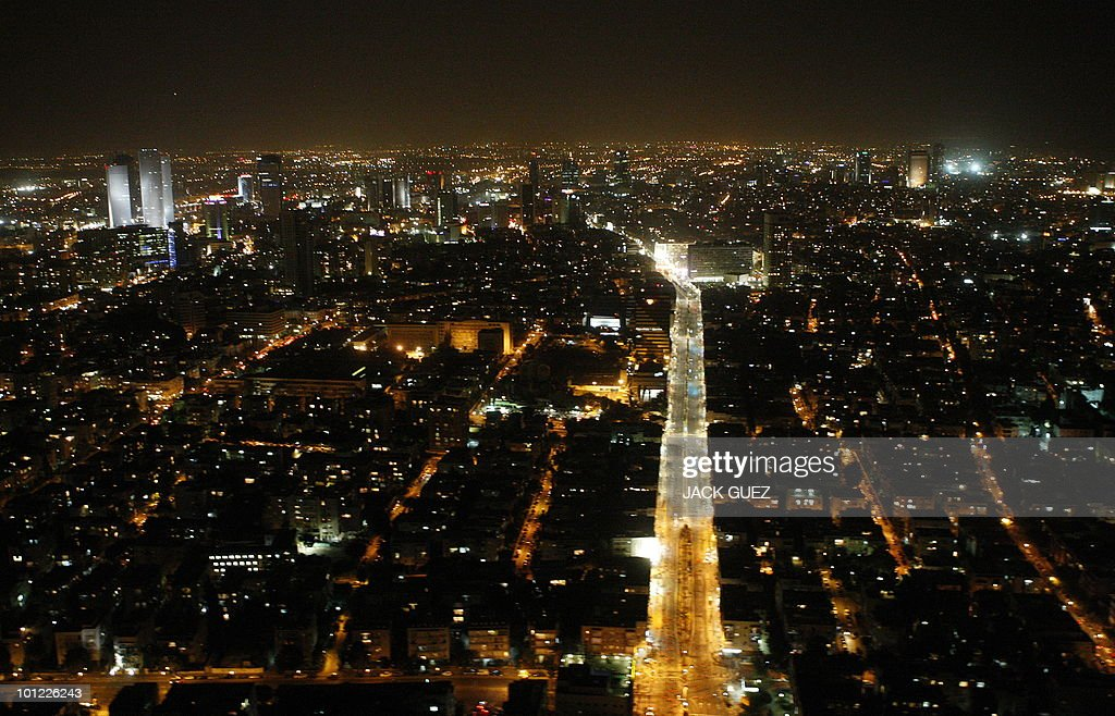 An aerial view of the Israeli coastal city of Tel Aviv on October 24, 2009.