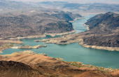 An aerial view of the Narrows June 12 2009 in the Lake Mead National Recreation Area Arizona