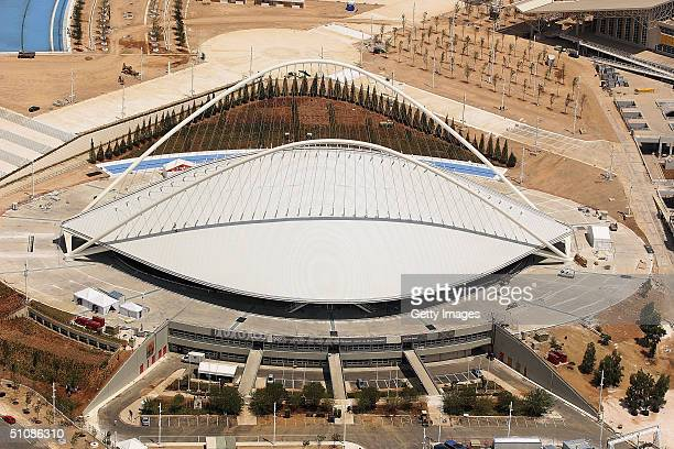 An Aerial view of the newly finished velodrome venue July 20 2004 in Athens Greece The 2004 summer Olympics will take place in Athens in August