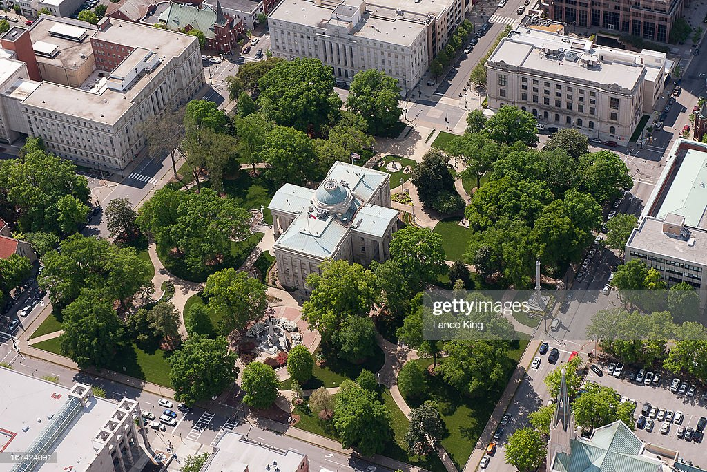 An aerial view of the North Carolina State Capitol Building on April 21, 2013 in Raleigh, North Carolina.