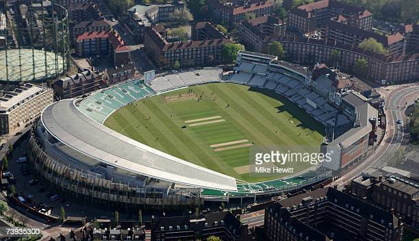 An aerial view of the Oval Cricket Ground on April 20 2007 in Kennington London England