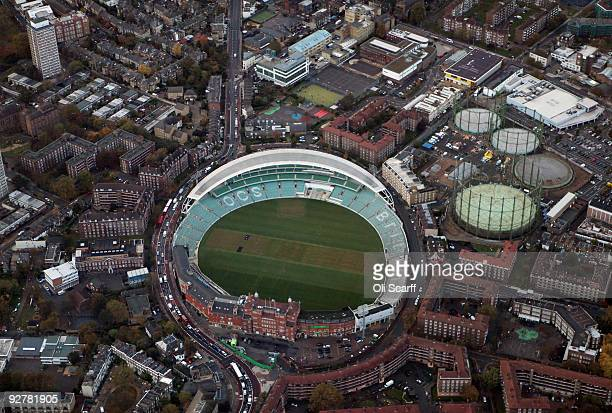 An aerial view of the Oval cricket ground on November 4 2009 in London England The UK's capital city is home to an population of over 75 million...