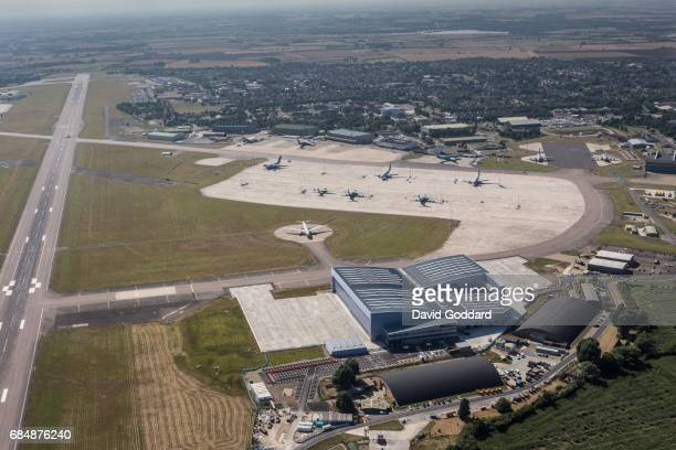 OXFORDSHIRE ENGLAND AUGUST An aerial view of the Royal Air Force Brize Norton in Oxfordshire on August 12 2016 This ministry of defence site is the...