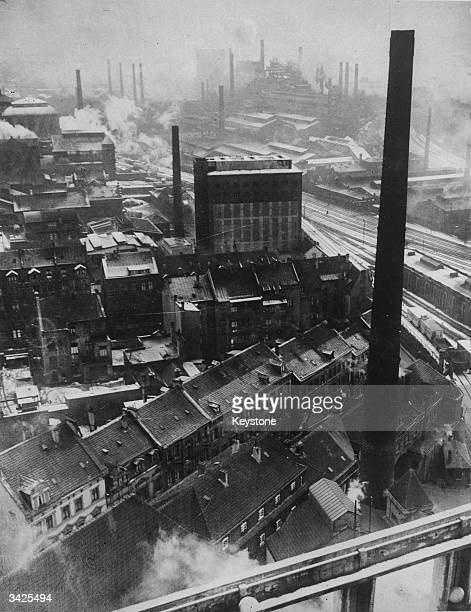 An aerial view of the United Steelworks in Dortmund