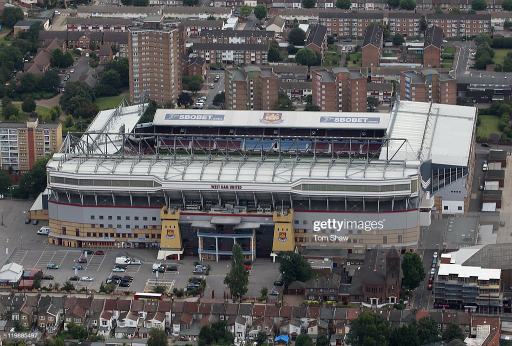 An Aerial View Of Upton Park Home West Ham United Football Club On July 26