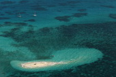 An aerial view of Vlassof Cay in the Great Barrier Reef is seen on November 14 2012 in Cairns Australia Located in Far North Queensland the Cairns...