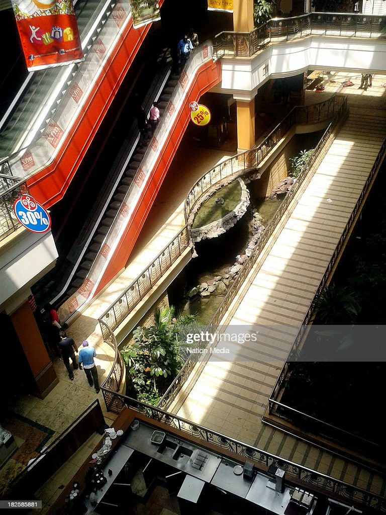 (Not for sale to The Star (Kenya), Capital FM, The People, Citizen TV, Kenya Broadcasting Corporation) An aerial view of Westgate mall on September 30, 2013 in Nairobi, Kenya. The Mall was hit with a terrorist attack on September 21, 2013. Ten to fifteen gunmen from the extremist group Al-Shabab entered the mall and opened fire at random on shoppers.