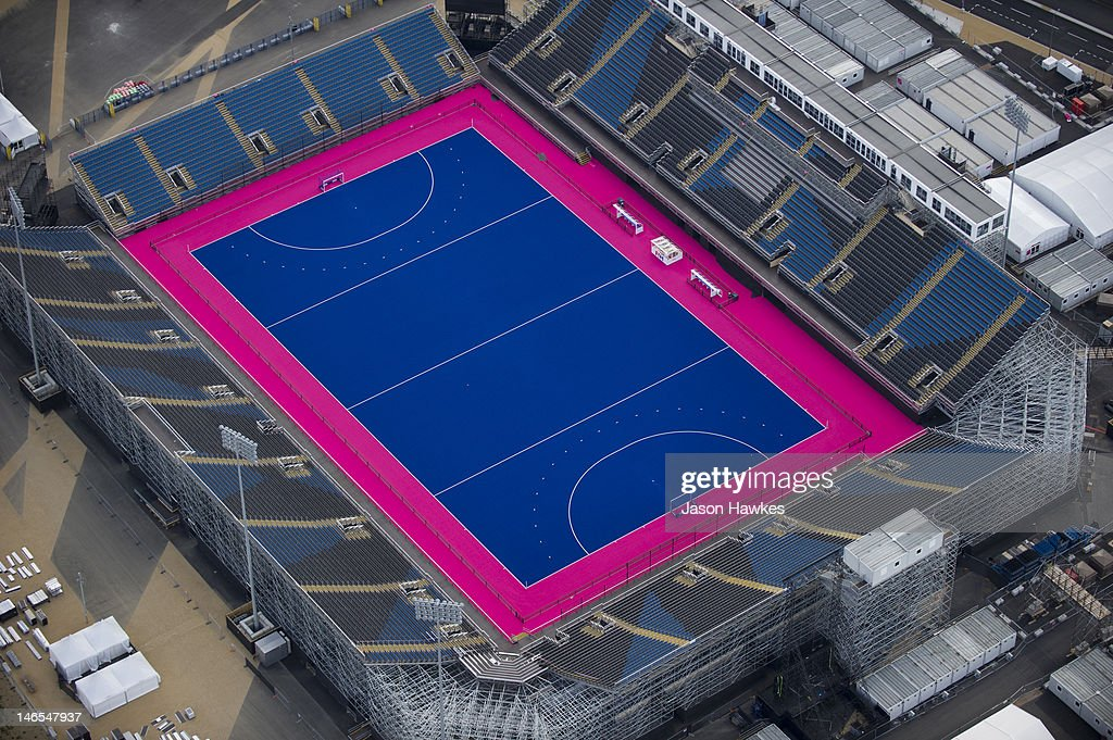 An Aerial View Over The Hockey Pitches At London 2012 Olympic Park On May