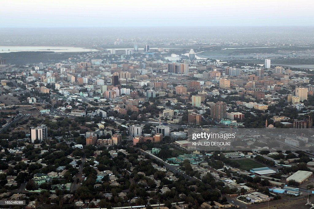 An aerial view shows the Sudanese capital Khartoum on January 13 2011 South Sudan was set to wrap up a weeklong independence vote on January 15...