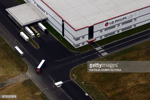 An aerial view taken 12 October 2007 shows the LG factory in Kobierzyce near the southwestern Polish city of Wroclaw The booming city has become a...