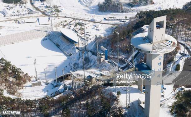 An aerial view taken Nov 27 of the Alpensia Ski Jumping Center for the 2018 Pyeongchang Winter Olympics in South Korea ==Kyodo