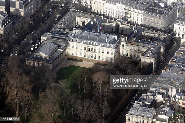 An aerial view taken on January 11 2015 shows the presidential Elysee Palace in Paris AFP PHOTO / KENZO TRIBOUILLARD / AFP / KENZO TRIBOUILLARD