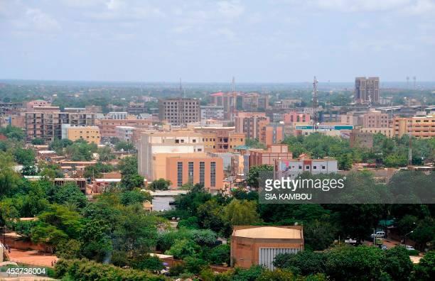 An aerial view taken on July 26 2014 shows the city of Ouagadougou Burkina Faso AFP PHOTO/ SIA KAMBOU