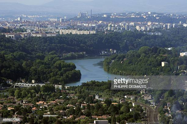 An aerial view taken on July 31 shows the Saône valley and the southeastern French city of Lyon at the background AFP PHOTO PHILIPPE DESMAZES