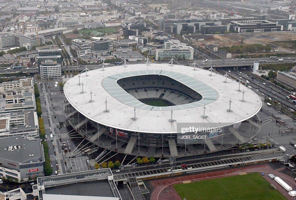 An aerial view taken on October 15 2008 shows the Stade de France in SaintDenis near Paris AFP PHOTO JOEL SAGET