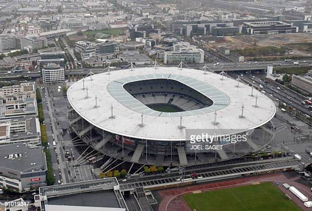An aerial view taken on October 15 2008 shows the Stade de France in SaintDenis near Paris AFP PHOTO JOEL SAGET