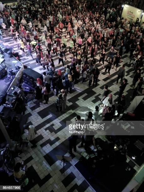 An aerobic event at Gandaria City Mall in Jakarta Indonesia on 21 October 2017 Indonesia ministry of health Nila Moeloek addressed that the health...