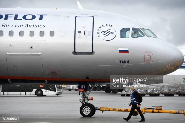An Aeroflot's aircraft taxis at Moscow's Sheremetyevo international airport on June 14 2017 / AFP PHOTO / Kirill KUDRYAVTSEV