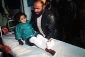 An Afghan kid wounded by a missile attack on a wedding site in Helmand is taken to Emergency Hospital in Lashkar Gah district of Helmand Province...