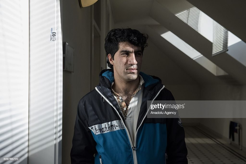 An Afghan refugee, who has served in the special forces of the Afghanistan Army and a translator for the American army in Afghanistan for 6 years, is seen as he waits to be granted an asylum status at the Red Cross shelter, in Vienna, Austria on February 11, 2016. The refugee shelter is located right in the Vienna city centre, inside the building belonging to the University of Applied Arts. The premises were rented by the university to the Austrian Red Cross in 2015. According to this agreement, the shelter started operating in October 2015 and it will be open until May 2016. The Red Cross shelter has a capacity to host 1400 persons and 775 refugees live there. Around 90% of the refugees living in the shelter come from Iraq, Syria or Afghanistan. Over the last seven months, around 90,000 asylum seekers have applied for refuge in Austria, and at least 50,000 of these are expected to be deported. Military aircraft have been requisitioned for this purpose. The government also wants to cut social support to these asylum seekers.