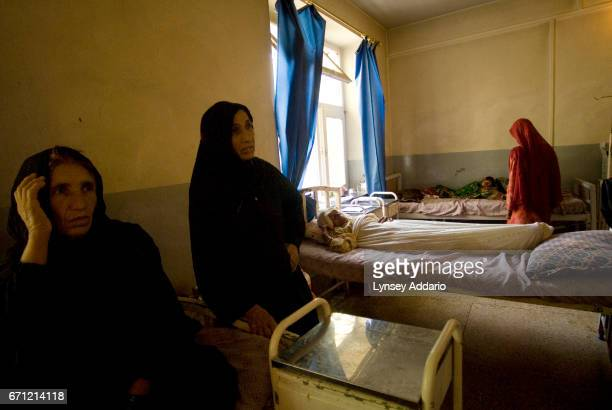 PROVINCE AFGHANISTAN SEPTEMBER 7 2007 An Afghan woman lies injured after being hit by US military airstrikes in her village in a public hospital in...
