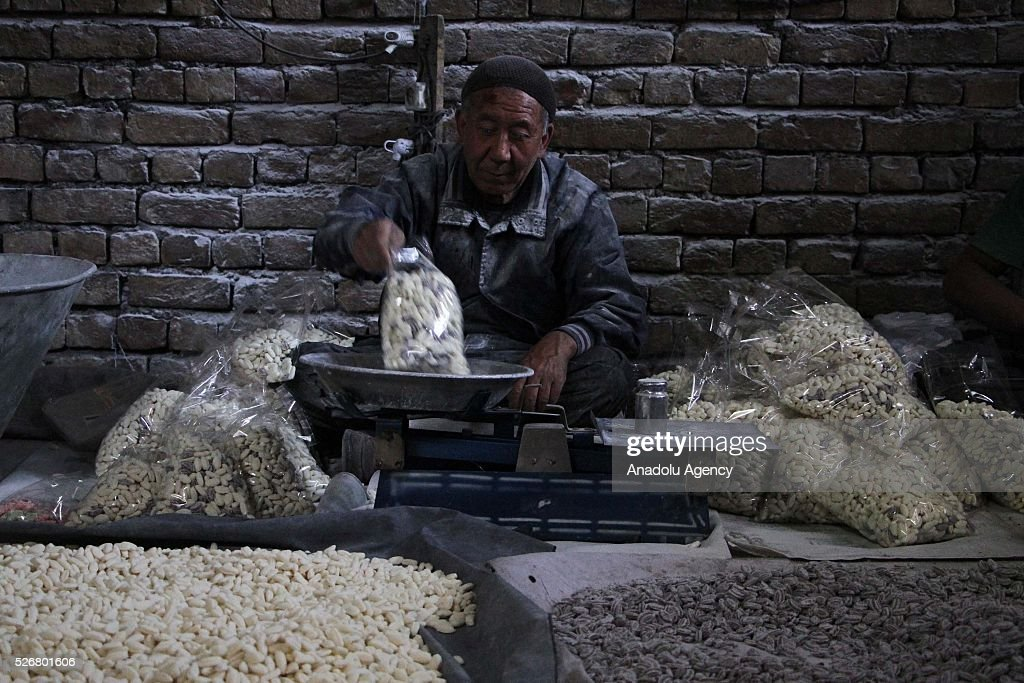 An Afghan worker is seen as he works at workplace as the world marks International Labor Day, also known as May Day in Kabul, Afghanistan, on May 1, 2016.