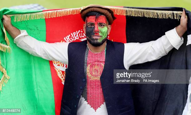 An Afghanistan cricket fan during the one day match at Lord's London