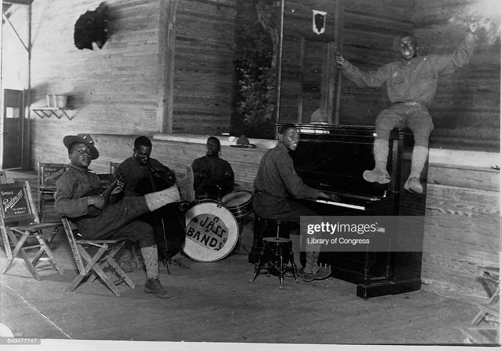 An African American jazz band at Camp Upton. | Location: Camp Upton.