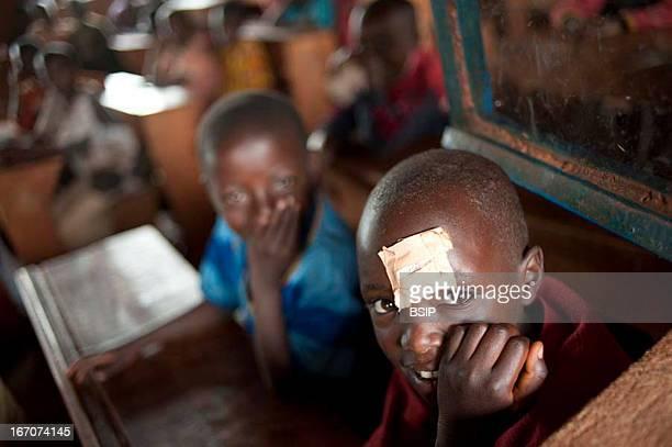 An african child Pupils in a school in Burundi
