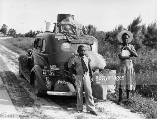 An AfricanAmerican family leaving Florida during the Great Depression