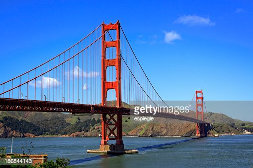 An afternoon shot of the Golden Gate Bridge in San Francisco