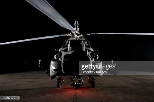 An AH-64D Apache Longbow at a U.S. operating base near Tikrit, Iraq.