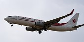 An Air Algerie plane prepares to land at the HouariBoumediene International Airport in Algiers on July 24 2014 An Air Algerie plane missing since...