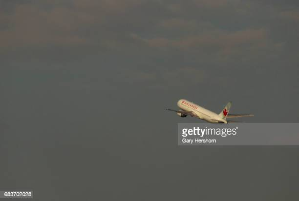 An Air Canada airplane takes off at Toronto Pearson International Airport in Toronto Canada on May 13 2017