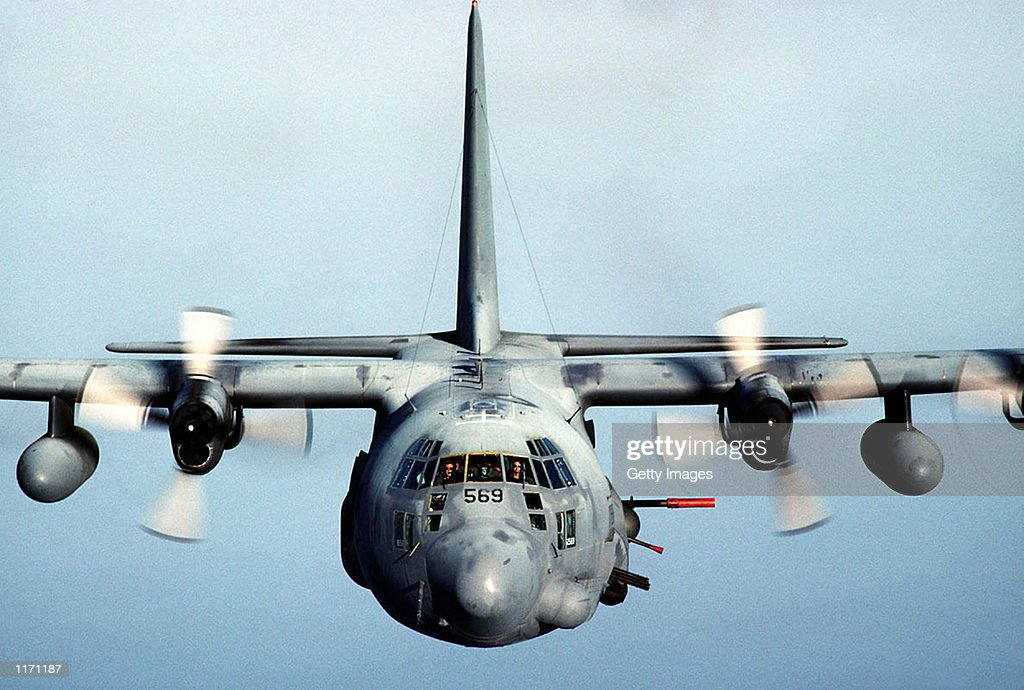 An Air Force Special Forces AC130 gunship in an undated photo which was used by the US military to attack targets around the Taliban of Kandahar a...