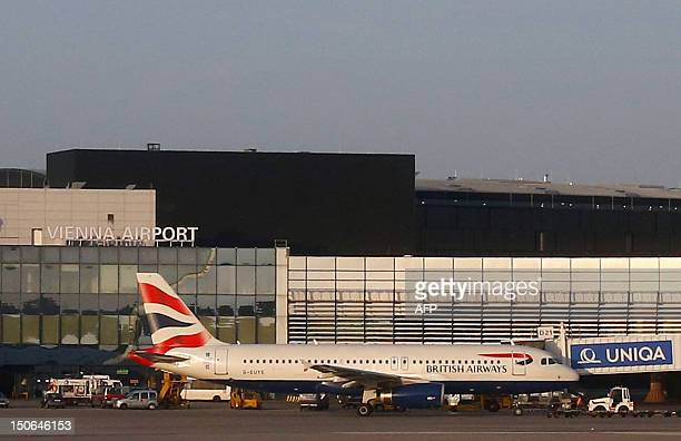 An Airbus A 320 airplane of British Airways prepares for take off at ViennaSchwechat Airport in Schwechat some 20km south east of Vienna on August 23...
