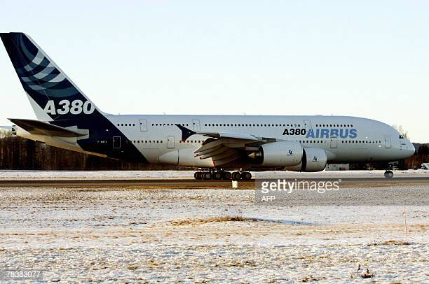 An Airbus A380 the largest airliner ever built landed at Oslo Airport Gardermoen 11 December 2007 The purpose of the visit to Norway is to test the...