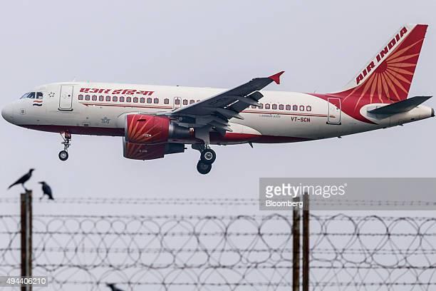 An Airbus SAS A321 aircraft operated by Air India Ltd approaches to land at Chhatrapati Shivaji International Airport in Mumbai India on Monday Oct...