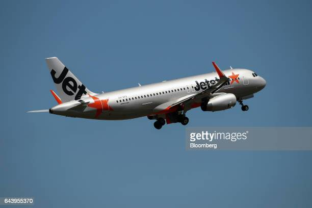 An Airbus SE A320200 aircraft operated by Jetstar Airways the budget arm of Qantas Airways Ltd takes off from Sydney Airport in Sydney Australia on...