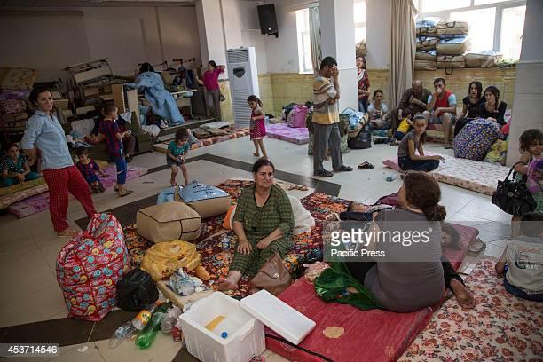 ANKAWA ERBIL KURDISTAN / KRG IRAQ An airconditioned room for elderly babies and young mothers at Saint Joseph Church as 650 Kurdish Christian...