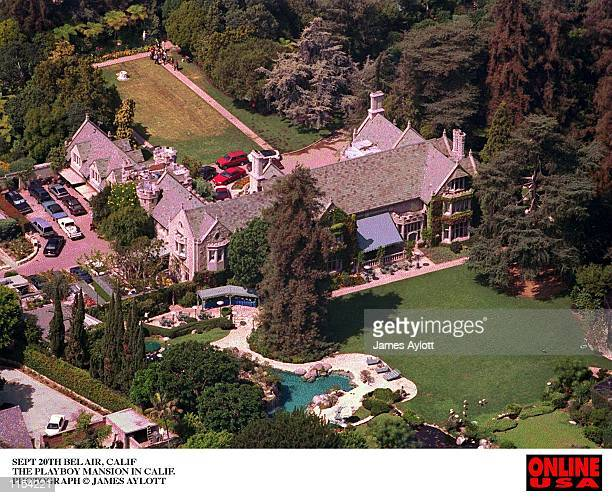 An aireal view of the Playboy Mansion