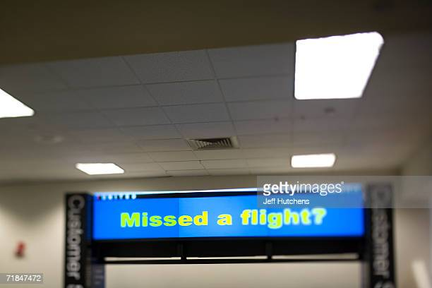 JUNE 28 2006 An airline sign at a customer service desk as the question no passenger wants to answer yes to in Chicagos OHare Airport a hub for...