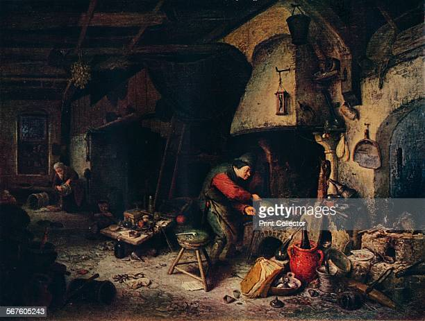 'An Alchemist' 1661 Painting held in The National Gallery London From The Dutch Genius by Haldane MacFall [T C and E C Jack London 1911]
