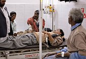 An alcohol poisoning patient receives treatment at the King George Medical College Hospital in Lucknow on January 12 2015 Twelve people have died...