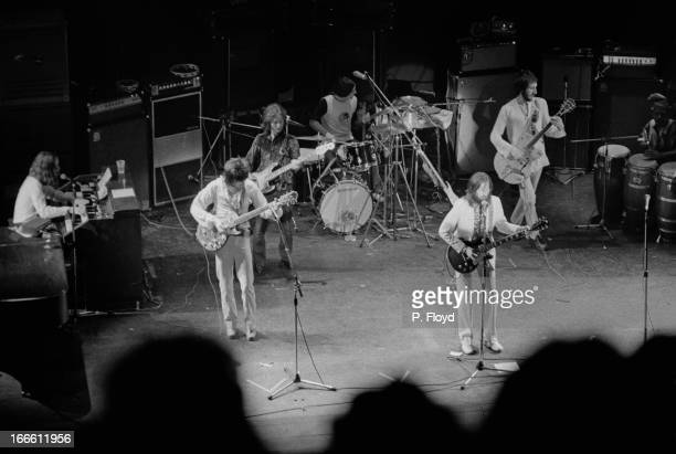 An allstar lineup performing at Eric Clapton's Rainbow Concert at the Rainbow Theatre in London 13th January 1973 The concert was organized by Pete...